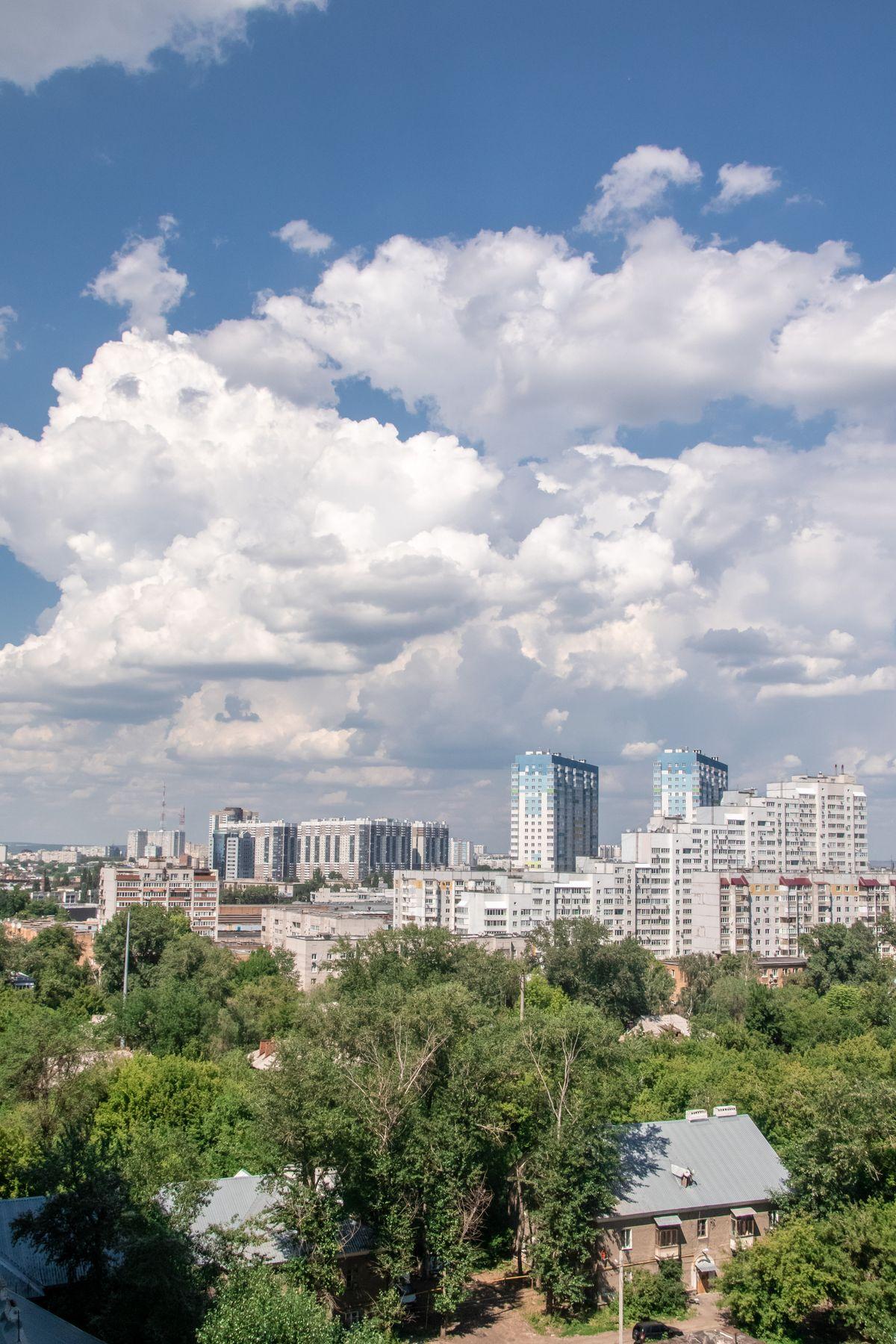 Небесная драма или облака белокрылые лошадки...) Самарские зарисовки Самара пейзаж городской