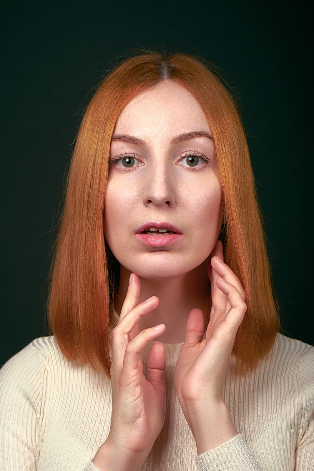 Elena девушка портрет рыжая глаза