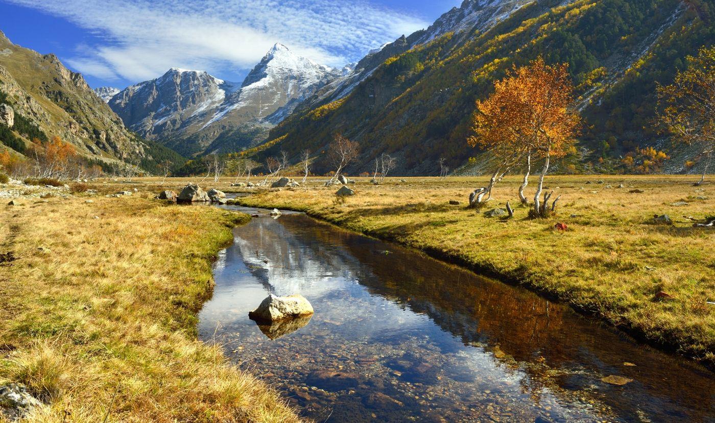 Ручей в горах горы осень вершина ручей Узункол