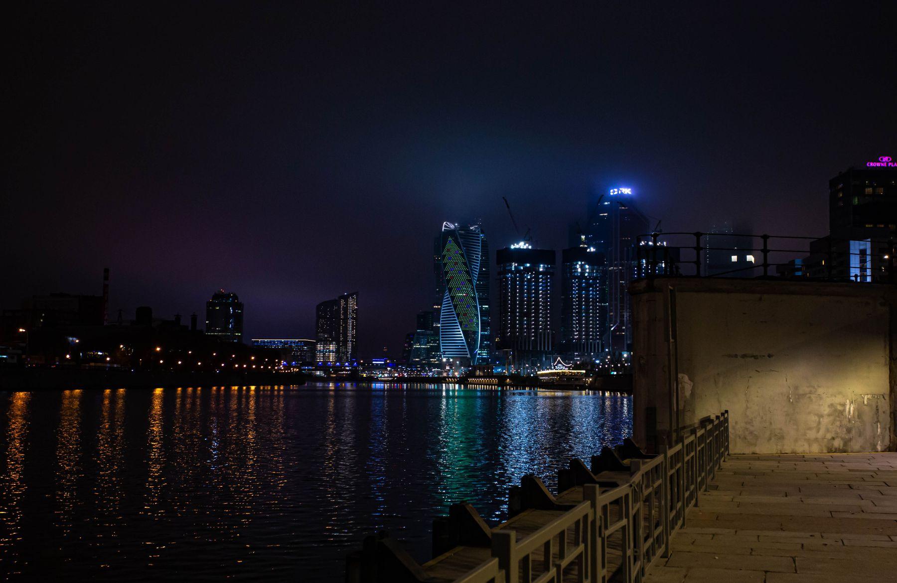 Москва сити Москва ночь