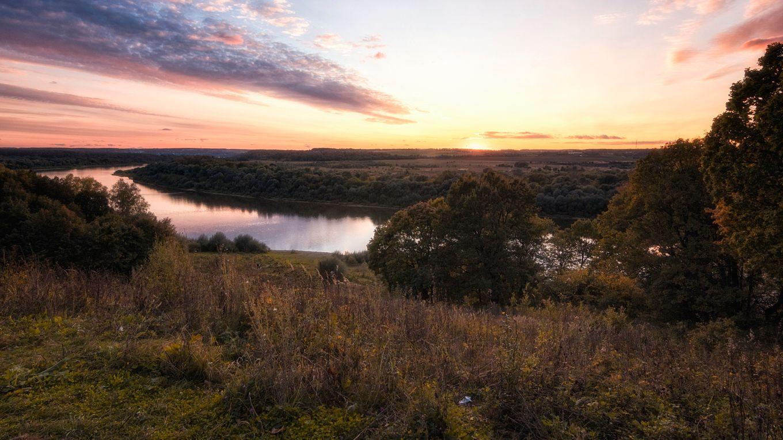 Окские просторы. река Ока осень красота природы России