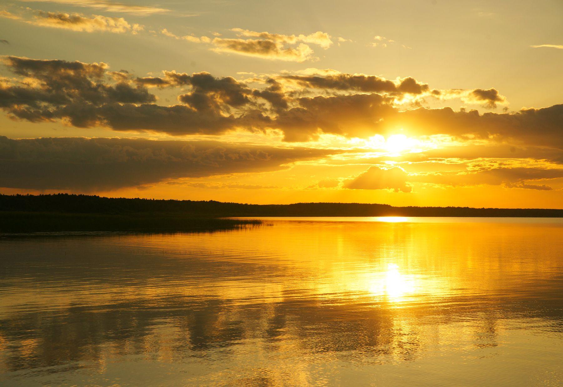 Закат на Плещеевом озере Плещеево озеро закат