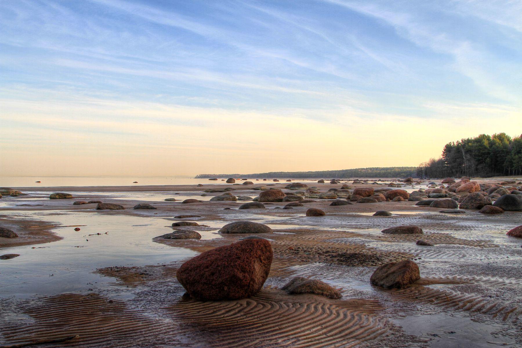 Синева...балтийский берег Финский залив