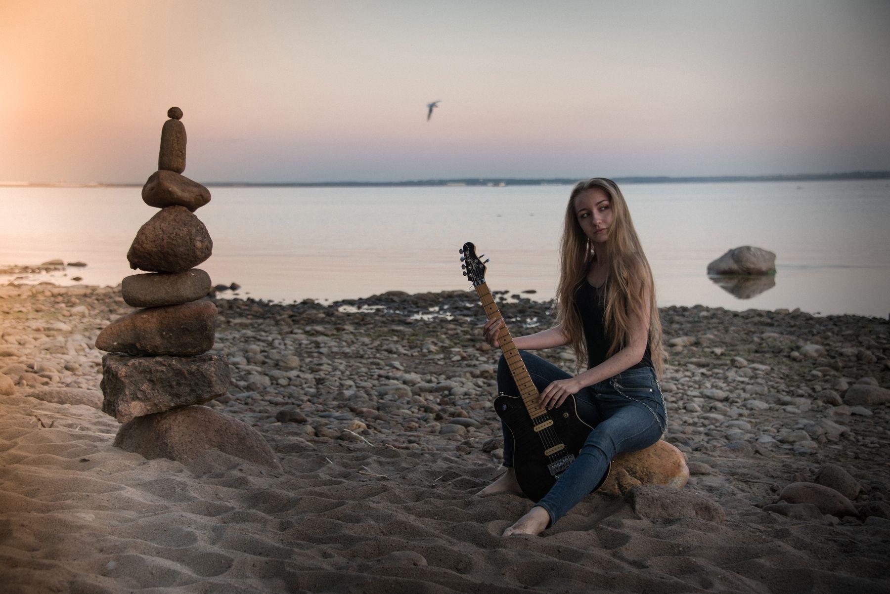 На заливе на заливе модель Кронштадт музыкант красивое фото