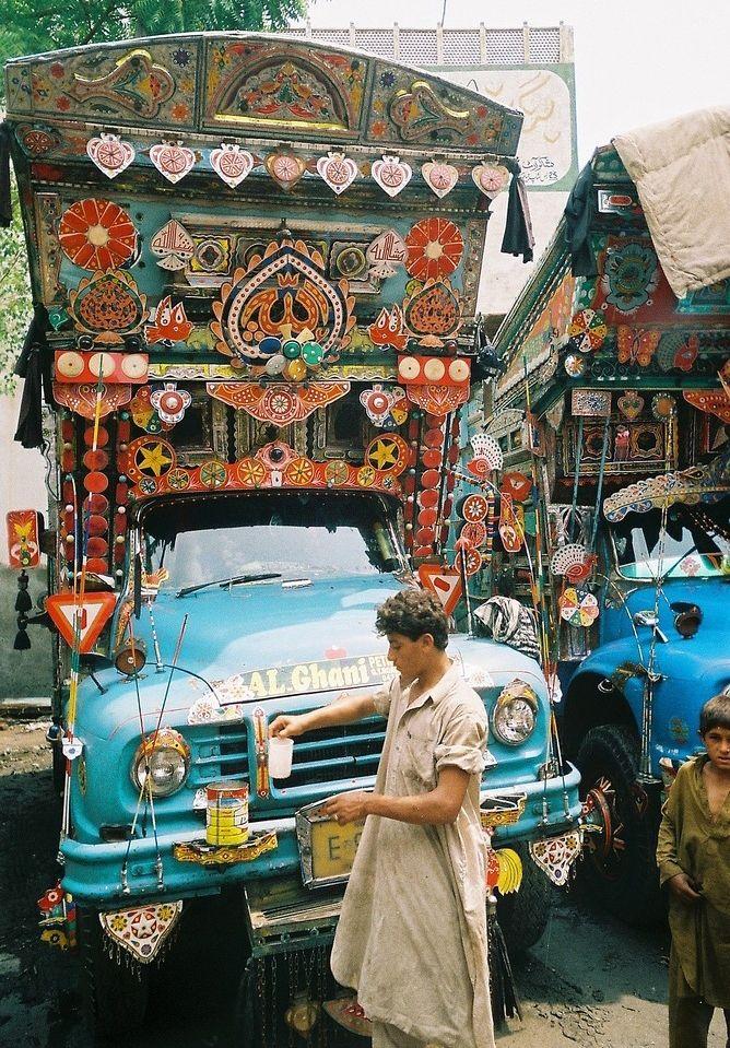 """Грузовая живопись"", Пакистан. пакистан грузовая живопись truck art"