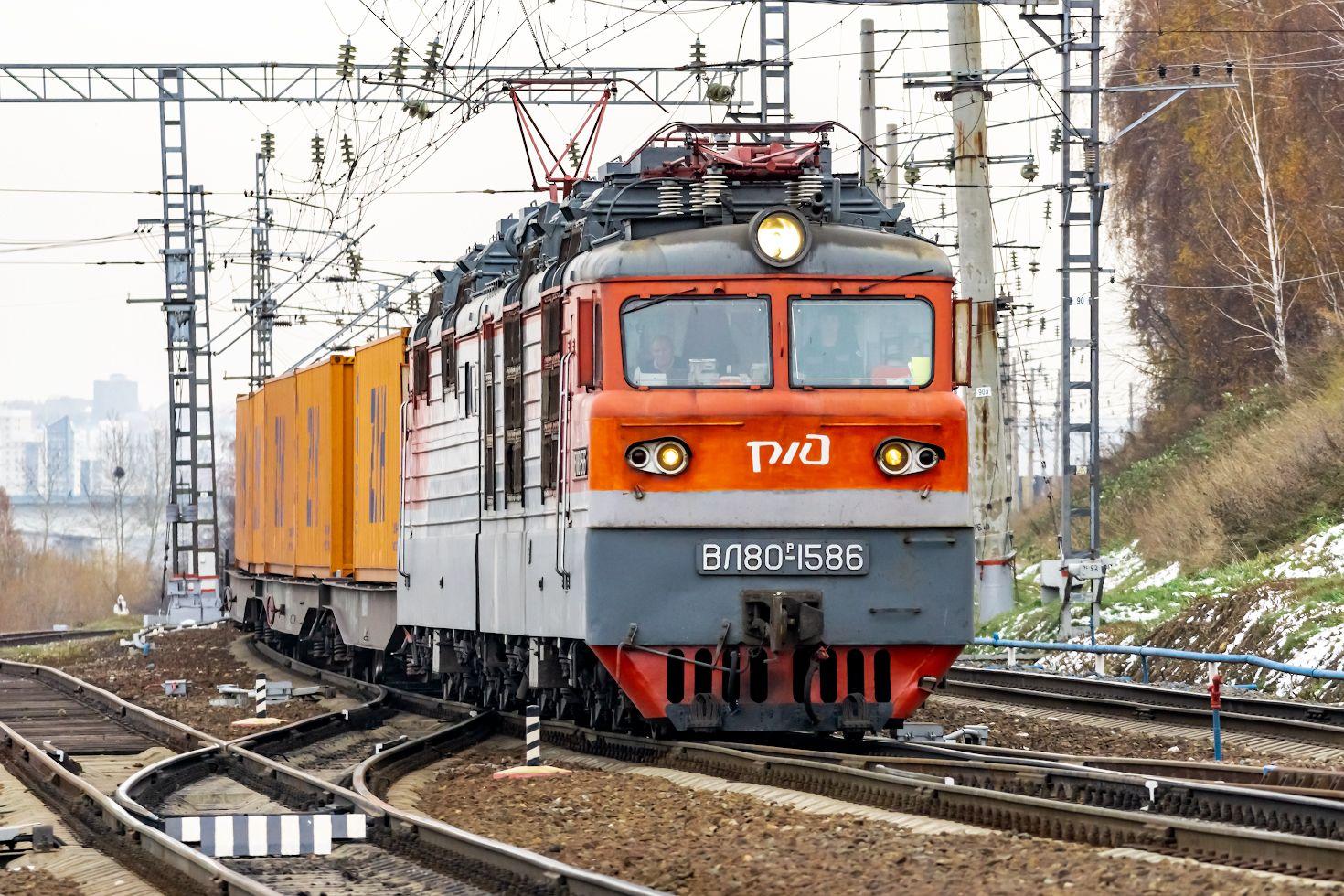 ВЛ80Р-1586 railway железная дорога locomotive локомотив электровоз поезд train Russia Siberia Irkutsk Россия Сибирь Иркутск споттинг spotting