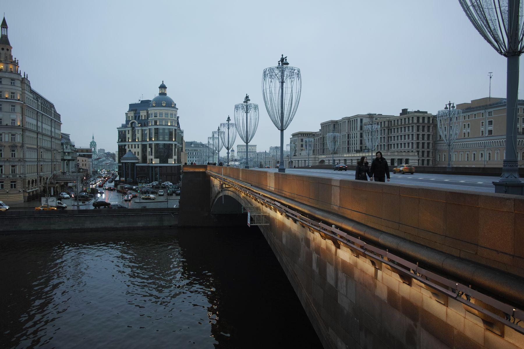 Большой Москворецкий мост город Москва река мост Большой Москворецкий