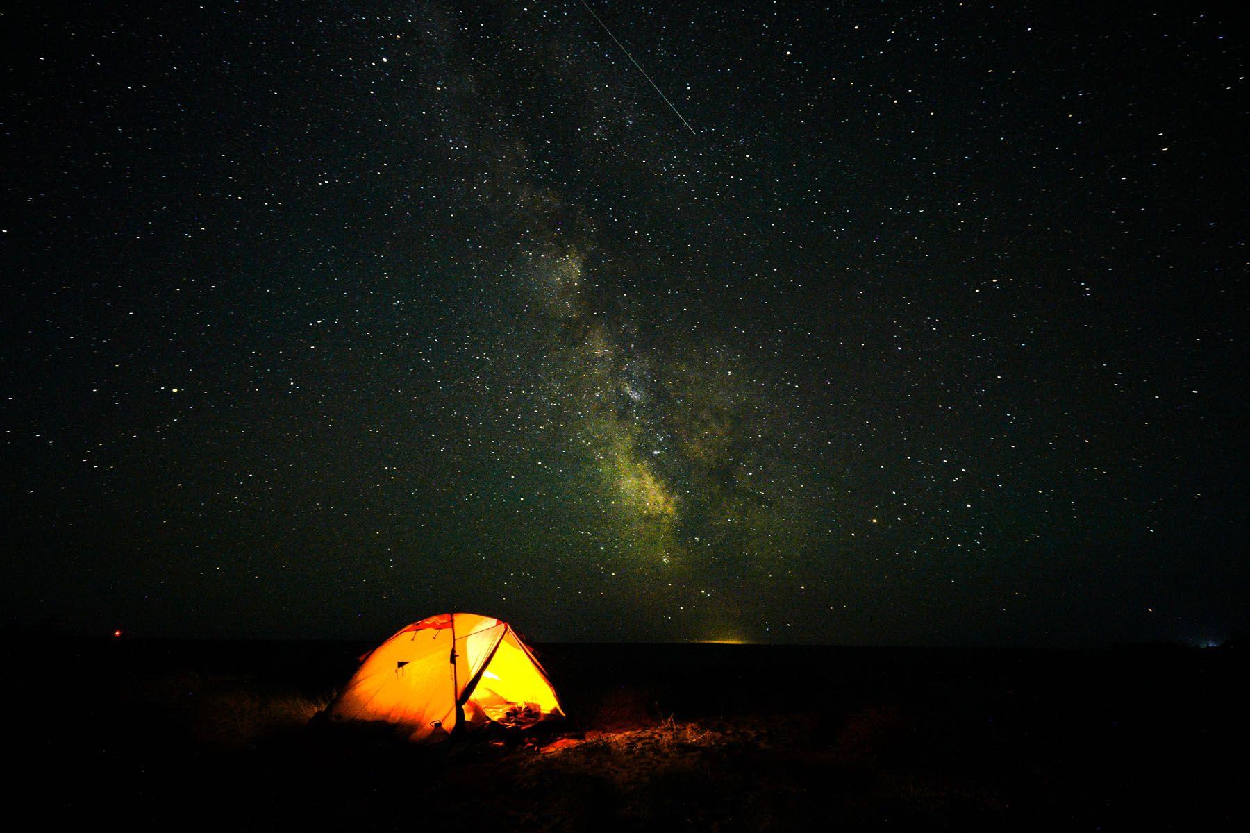 небо над озером Балхаш - Казахстан