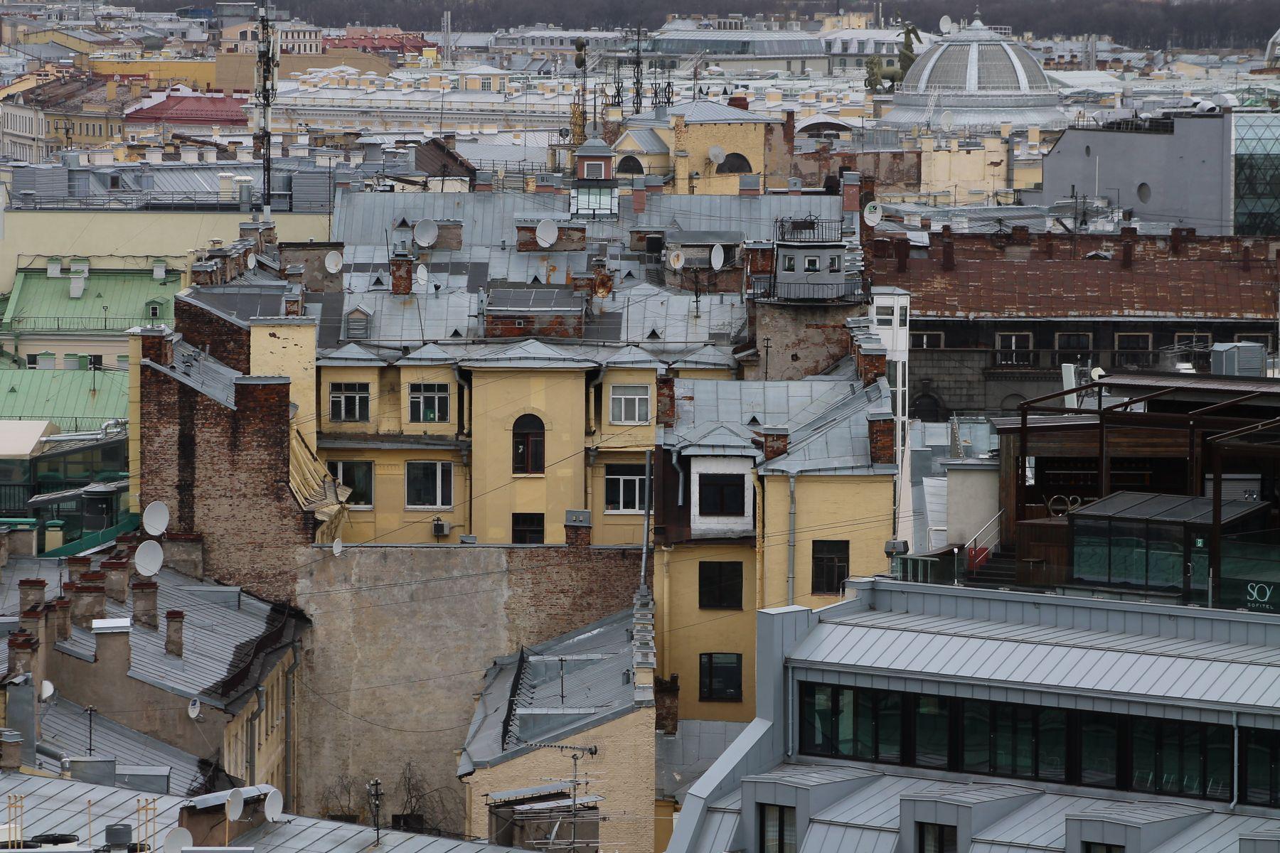 Вид на Санкт-Петербург с колоннады Исаакиевского Собора Санкт-Петербург