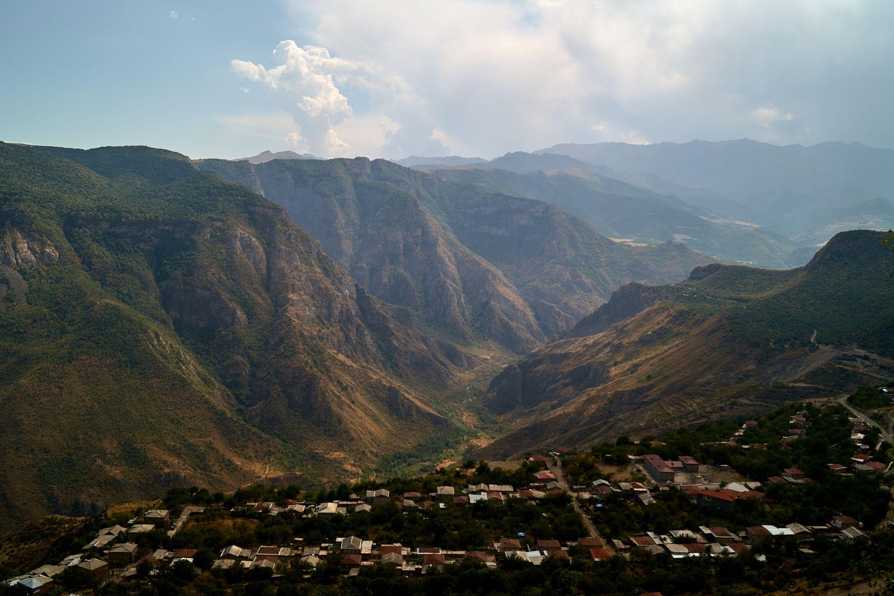 Алидзор Армения Пейзаж Горы Облака Путешествие Travel Landscape Armenia Mountains
