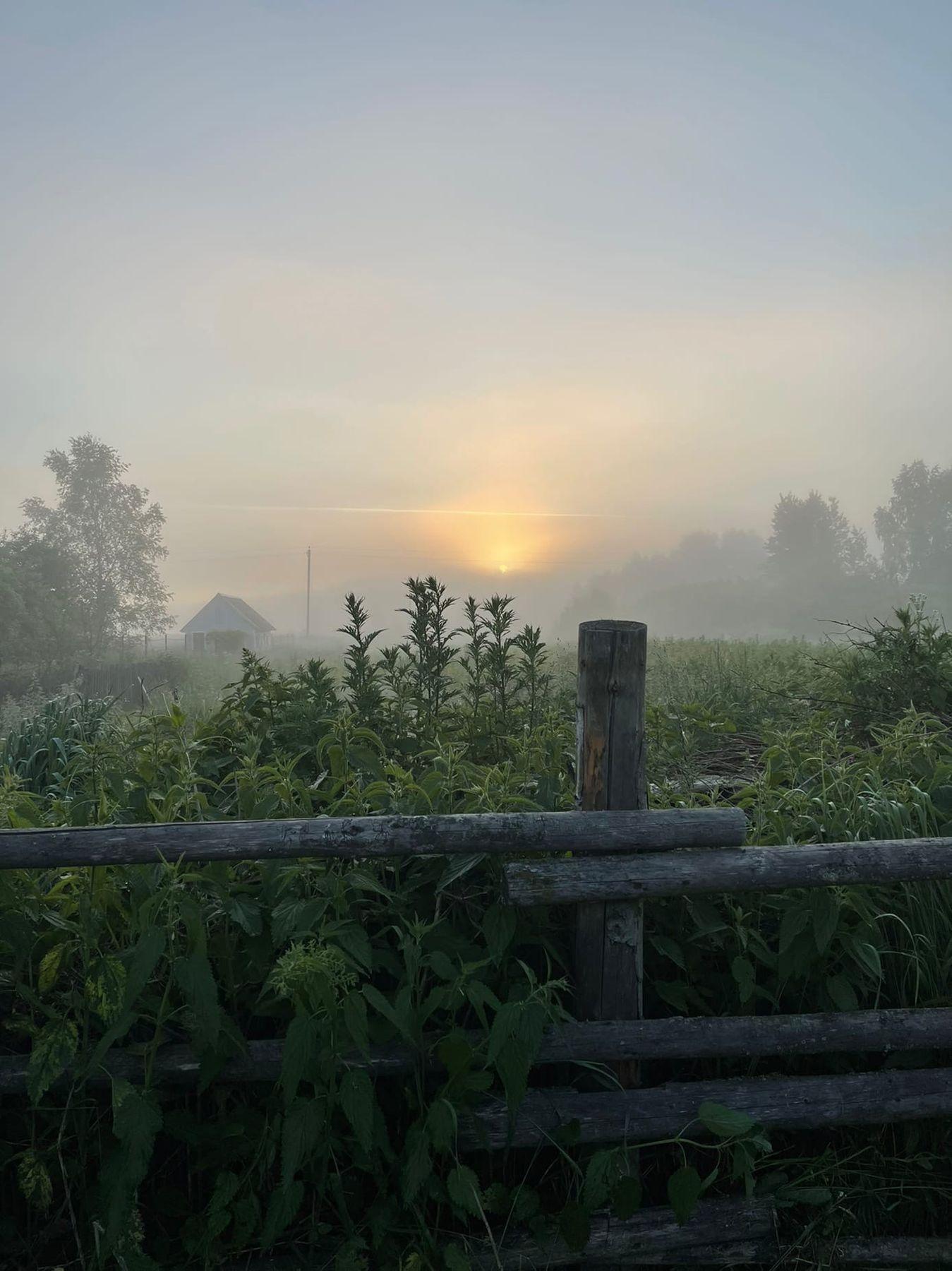 Утро туманное калужскаяобласть юхновскийрайон упрямово