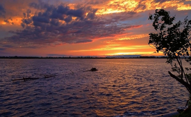 Обской закат Сибирь июнь 2021 река Обь закат пейзаж