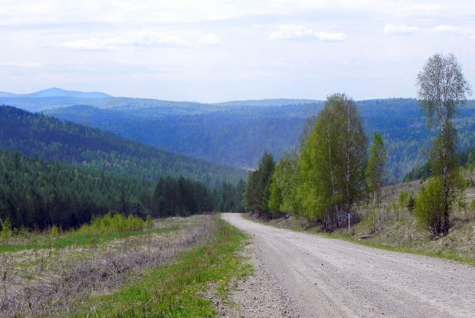Путь в Саяны Сибирь лето горы