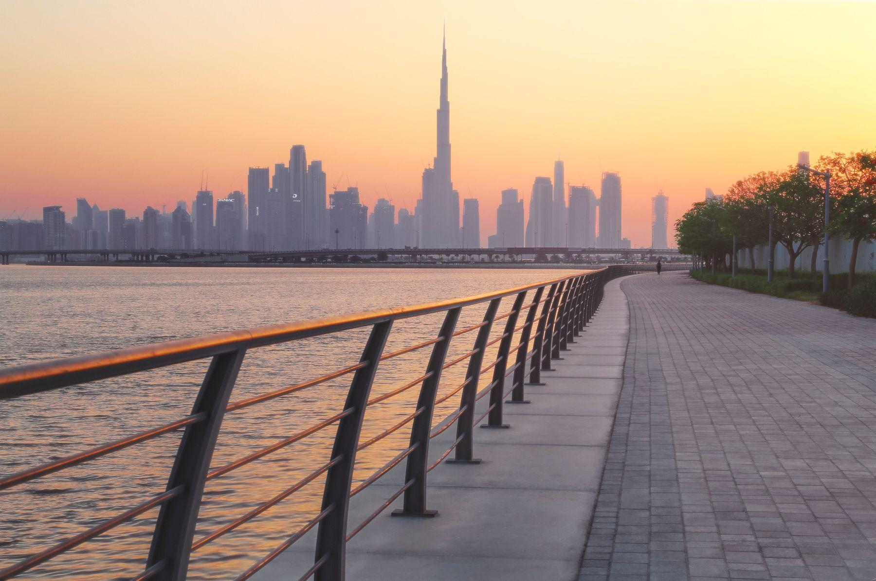 Dubai sunset дубай dubai burj khalifa