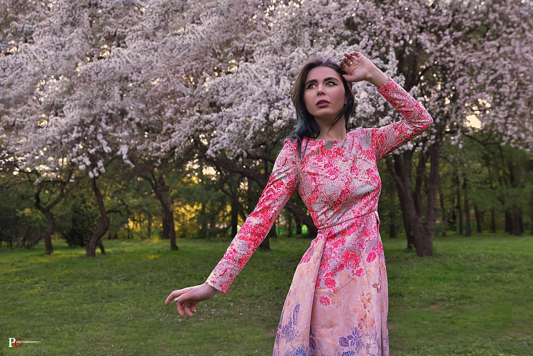 цветение павел генов фотограф в москве хочу фотосет цветение платье модель москва
