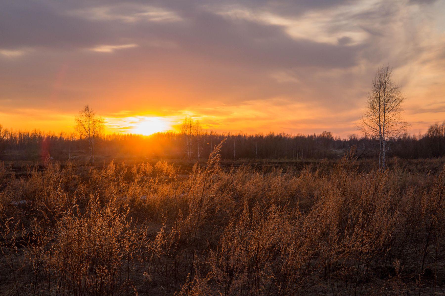 *** природа пейзаж весна вечер закат татарстан