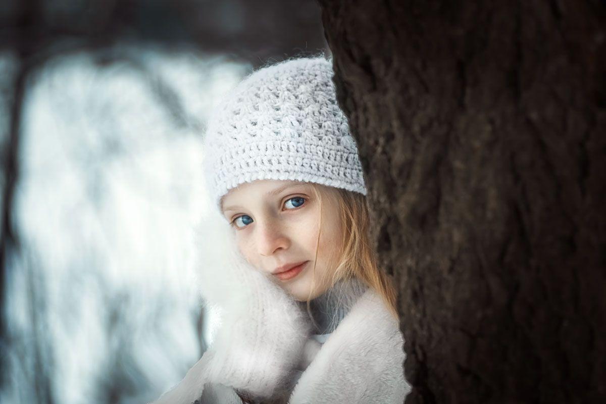 Лиза. дети зима снег