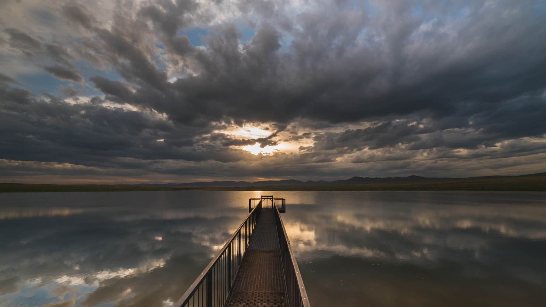 Закат озеро закат Хакасия