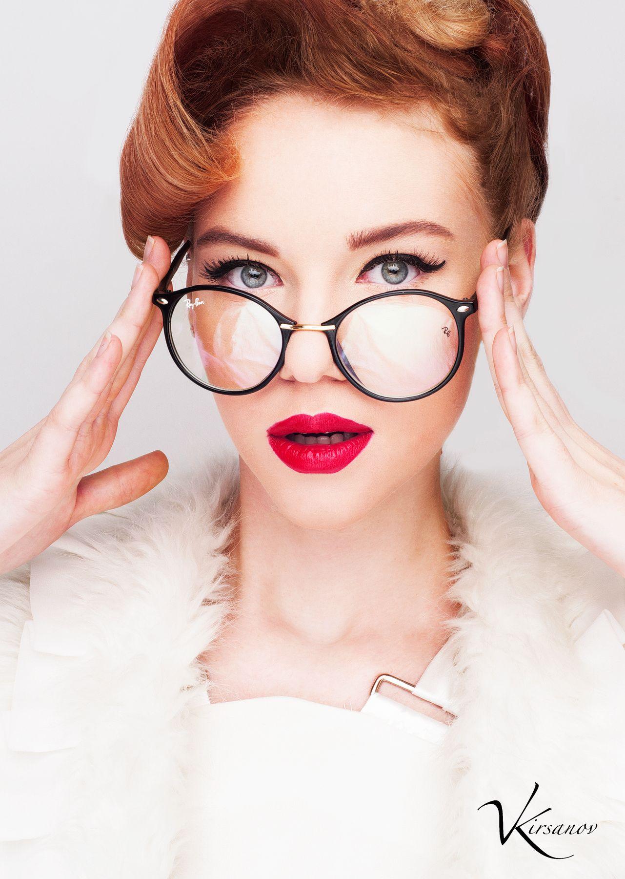 Губы Девушка губы очки пинап гламур флирт глаза