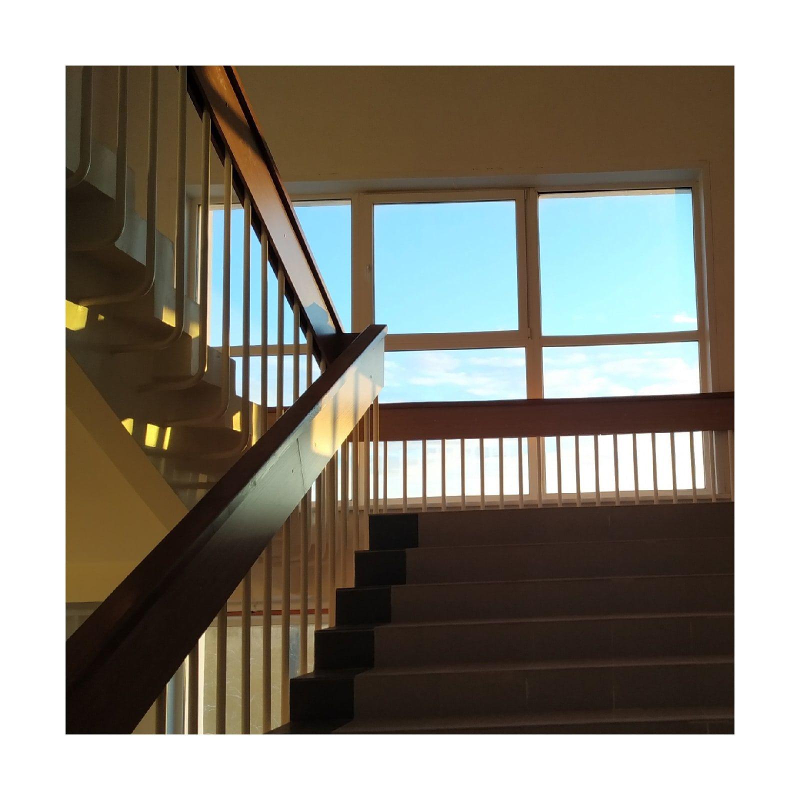 univer лестница небо перила окно