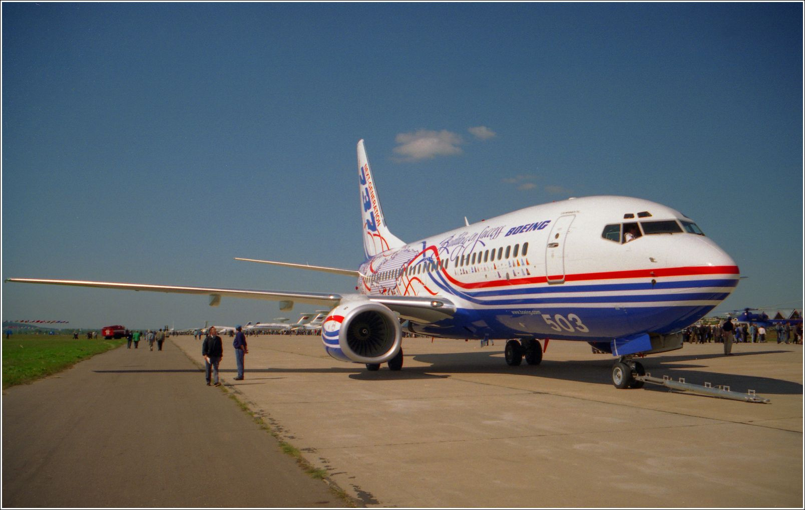Боинг-737 (1998 год) Боинг-737 авиация самолет стоянка Жуковский 1998