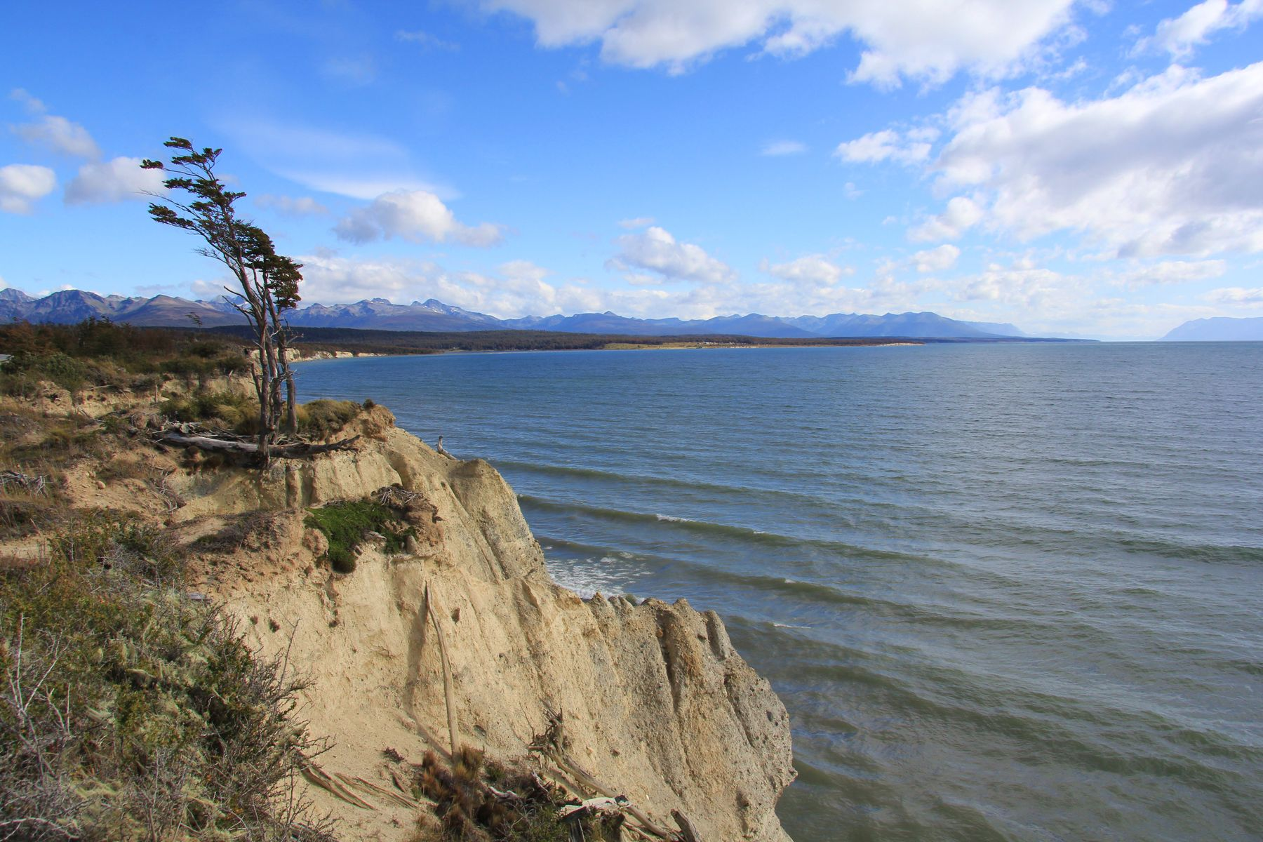 Озеро Фагнано на огненной Земле. Аргентина ледник пейзаж скалы