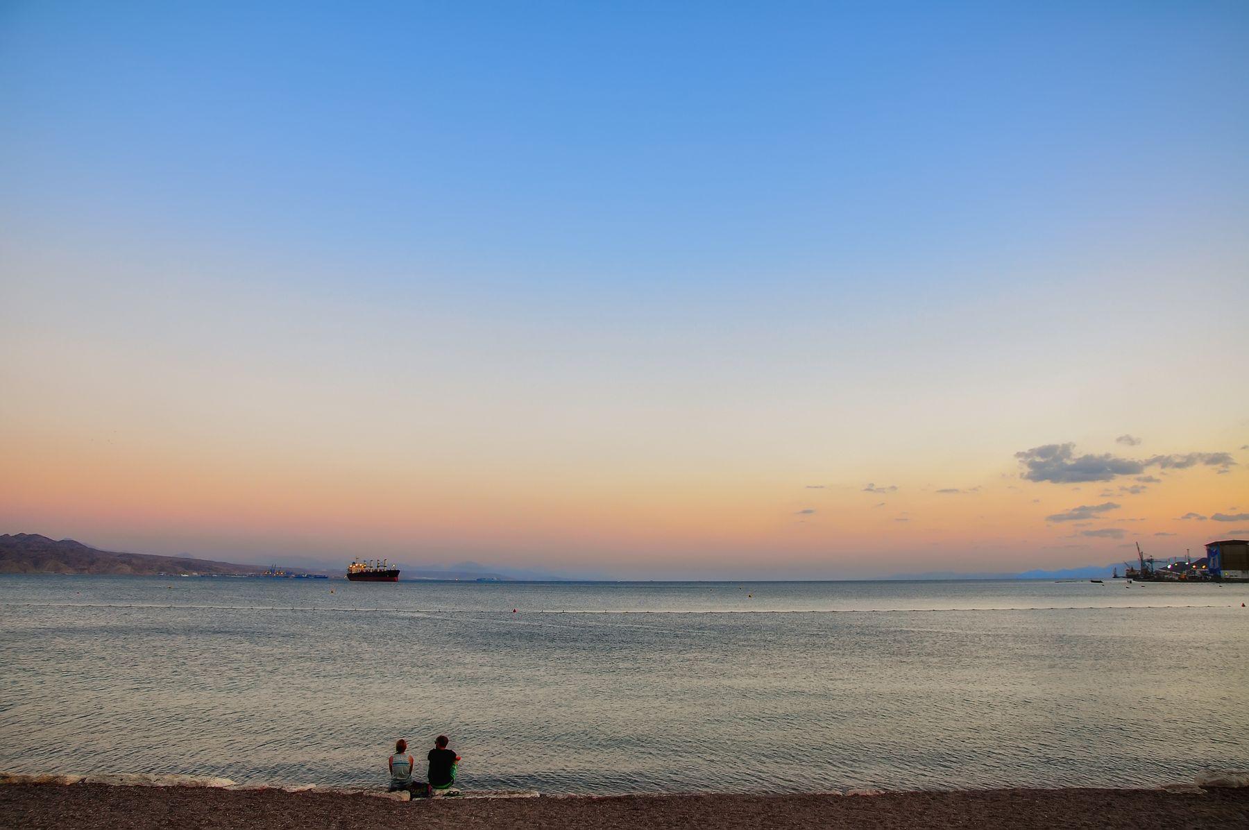 Магия моря Море вечер Израиль