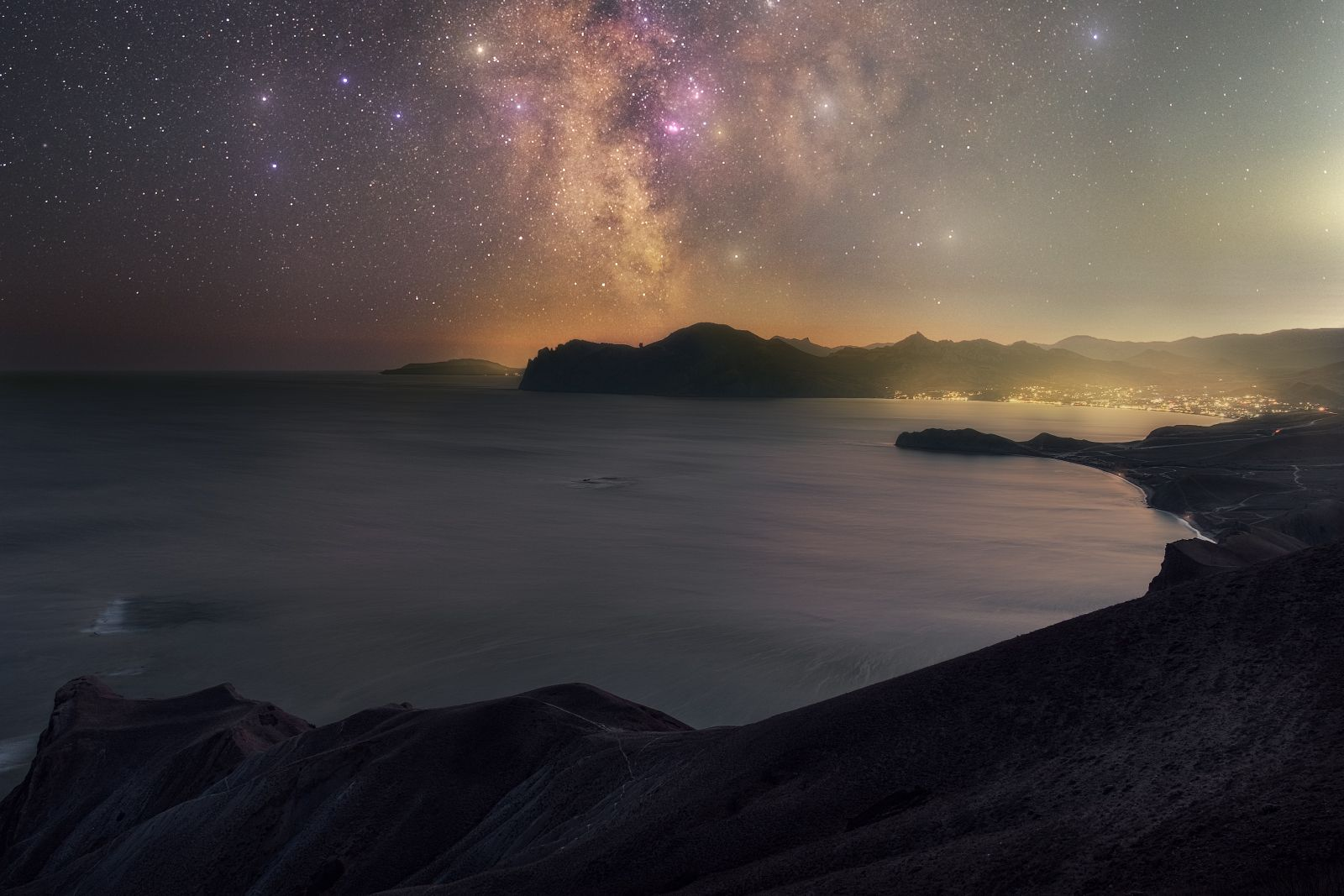 Крымская ночь звезды джан-кутаран хамелеон орджоникидзе крым млечныйпуть юбк milkyway осень астро черноеморе ночь
