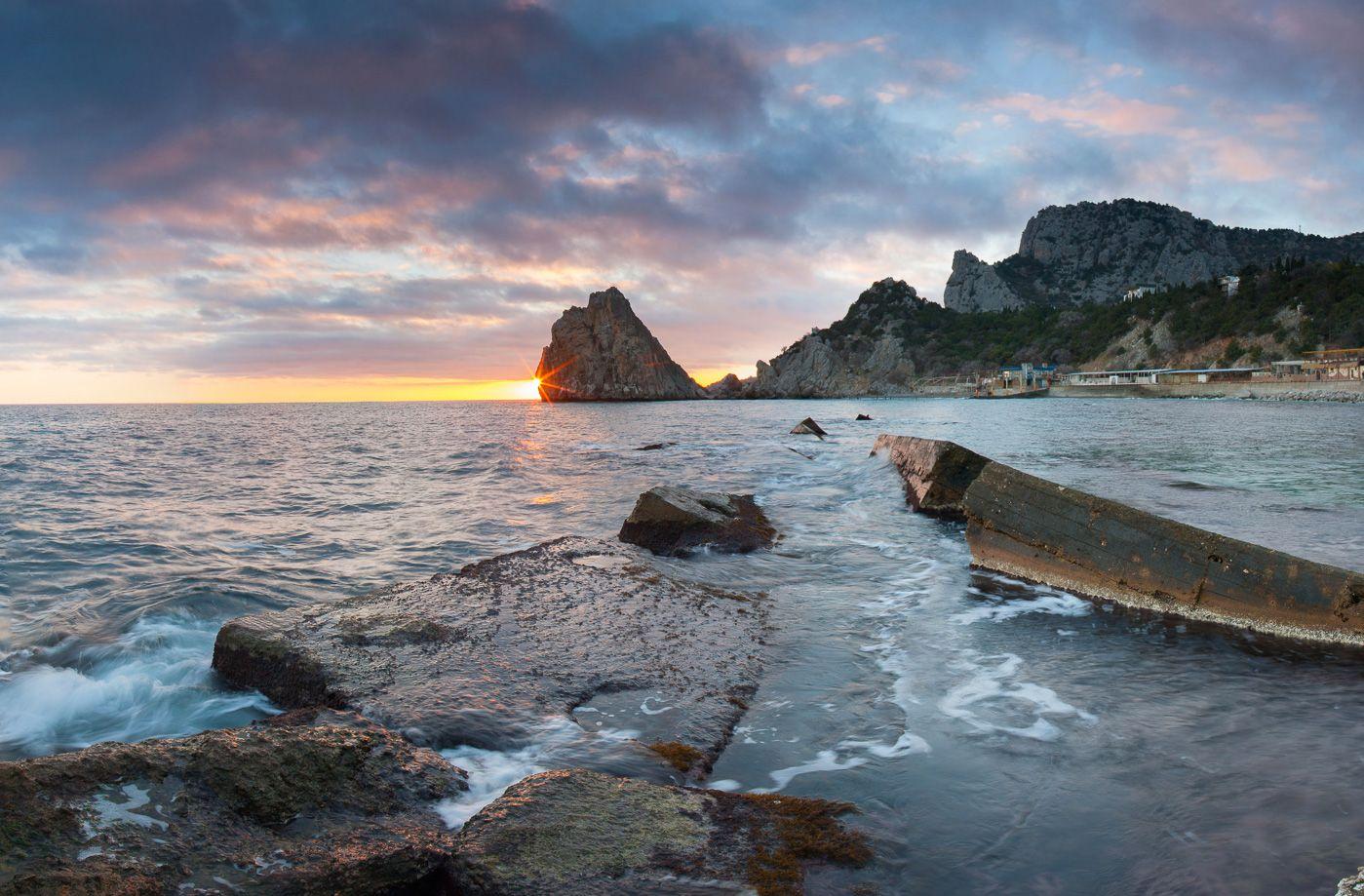 Симеиз Симеиз Скала Дива Ялта Крым Черное море волна пляж шторм фотограф
