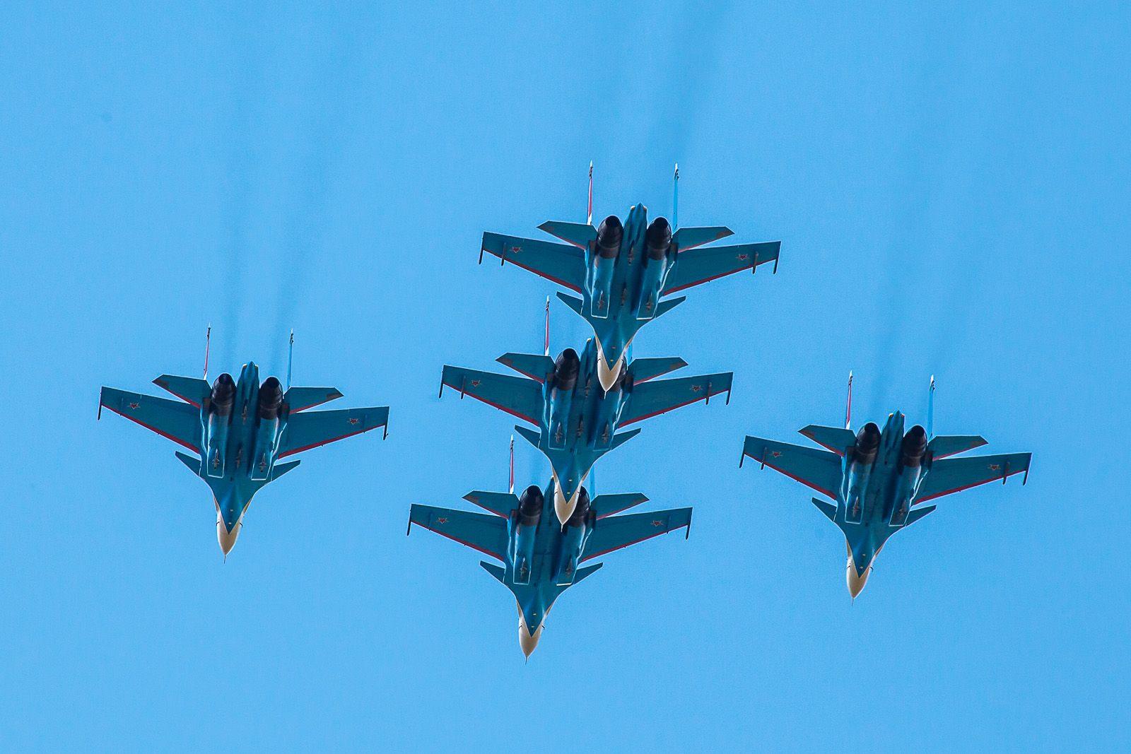 На Парад! авиабаза Кубинка Су-30СМ Победа репетиция