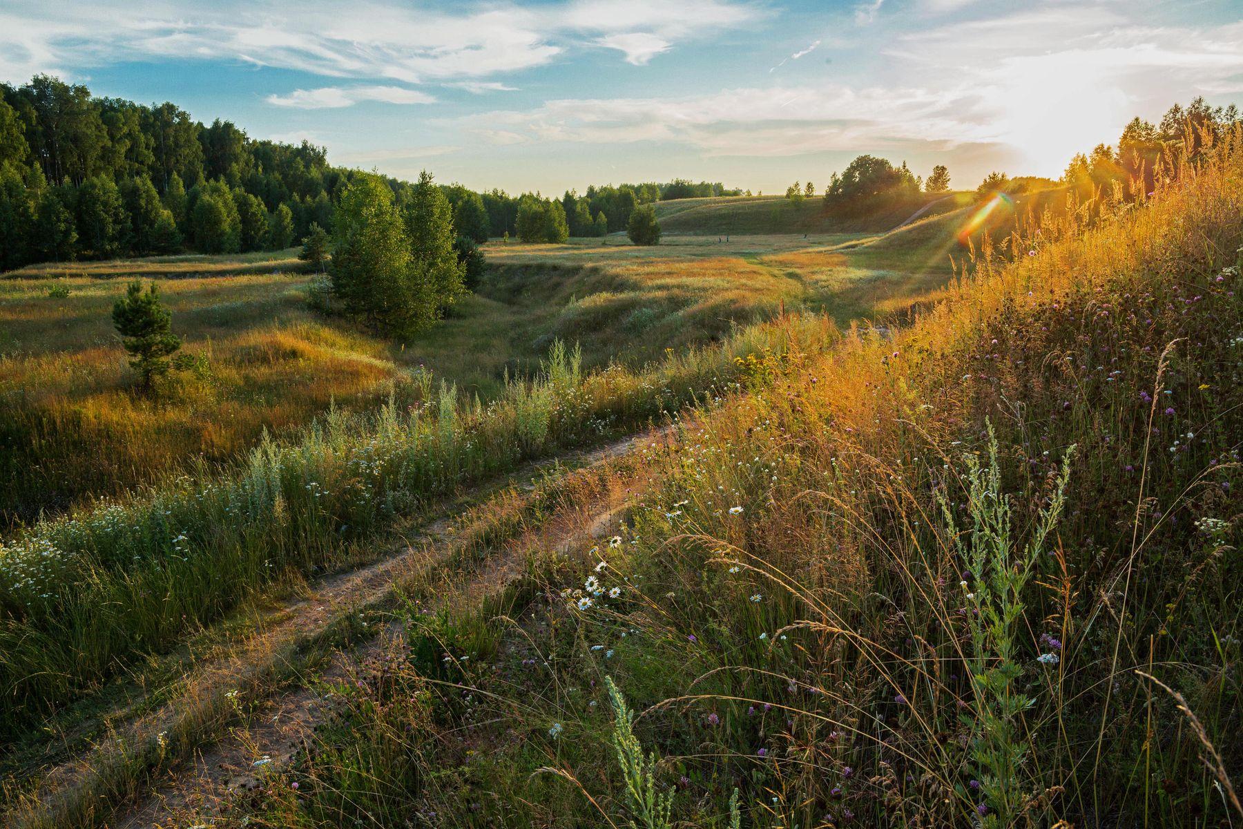 *** природа пейзаж лето вечер татарстан новочувашский